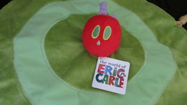 Eric Carle NEW Very Hungry Caterpillar plush baby security blanket rattl... - $16.03