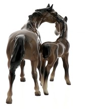 Hagen-Renaker Miniature Ceramic Horse Figurine Thoroughbred Mare and Colt Set  image 4