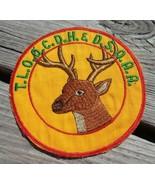 "TLOOCDH & DSOAA Hunters Rod Gun Club Buck Deer 5"" Round Cloth Patch Chelsea MI - $39.55"