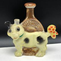 VINTAGE DECANTER FIGURINE STATUE porcelain cork top alls well that ends ... - $39.55