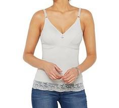 Rhonda Shear Smooth Camisole with Lace MEDIUM - $12.86