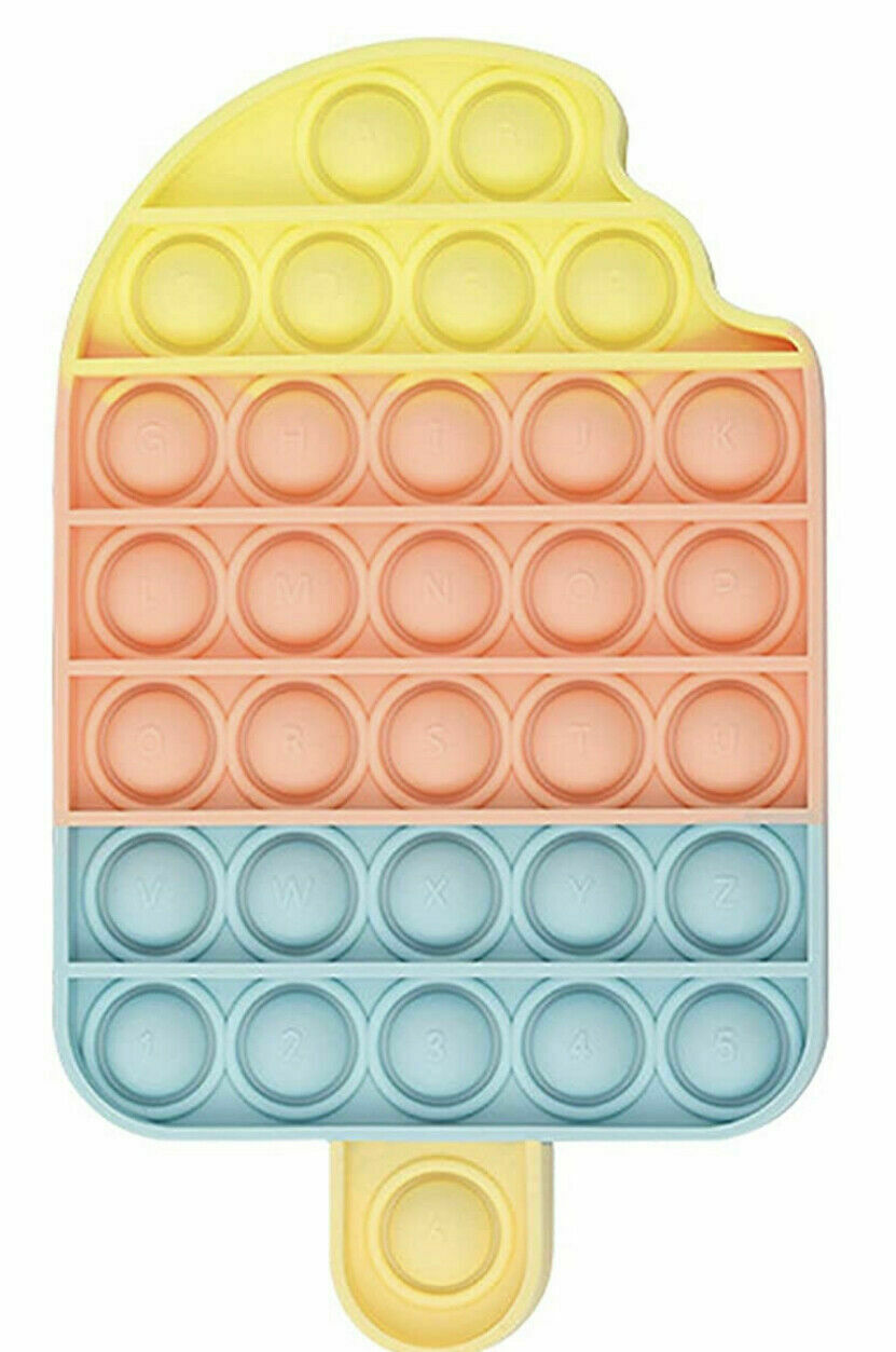 Push Pop Bubble It Silicone Sensory Fidget Ice Cream Toy Autism Stress Relief