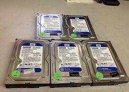 Lot of 5 Western Digital WD5000AAKX Sata 1MB 500GB 3.5 Hard Disk Drive - $80.00