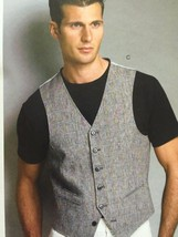 Vogue Sewing Pattern 8987 Mens Vest Size 34-40 New - $22.63