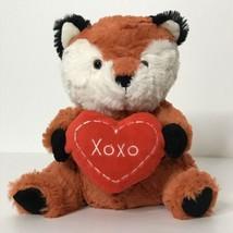 "Animal Adventure Fox Holding Heart Plush XOXO 2017 Valentines Day 8"" Tall  - $21.78"