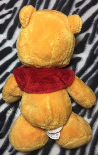 "DISNEY Winnie the Pooh W/ Red Shirt 11"" Plush Stuffed Animal Toy SUPER SOFT"