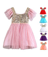 StylesILove Gold Sequin Tulle Flower Girl Dress, 6 Colors - $18.99