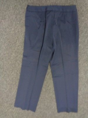 ANNE KLEIN Blue Stretchy Straight Leg Polyester Dress Pants Size 6 3950A
