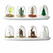 4pcs Spice Jar Set Plant Animal Seasoning Bottle Salt Sugar Shaker Cooki... - $22.07