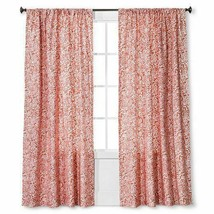 "Floral Paisley Window Curtain Panel Coral (54""x84"") Threshold - $16.69"