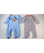 Disney Mickey Mouse Boys 0-6M Long Sleeve Footed Sleeper One Piece PJs P... - $19.79