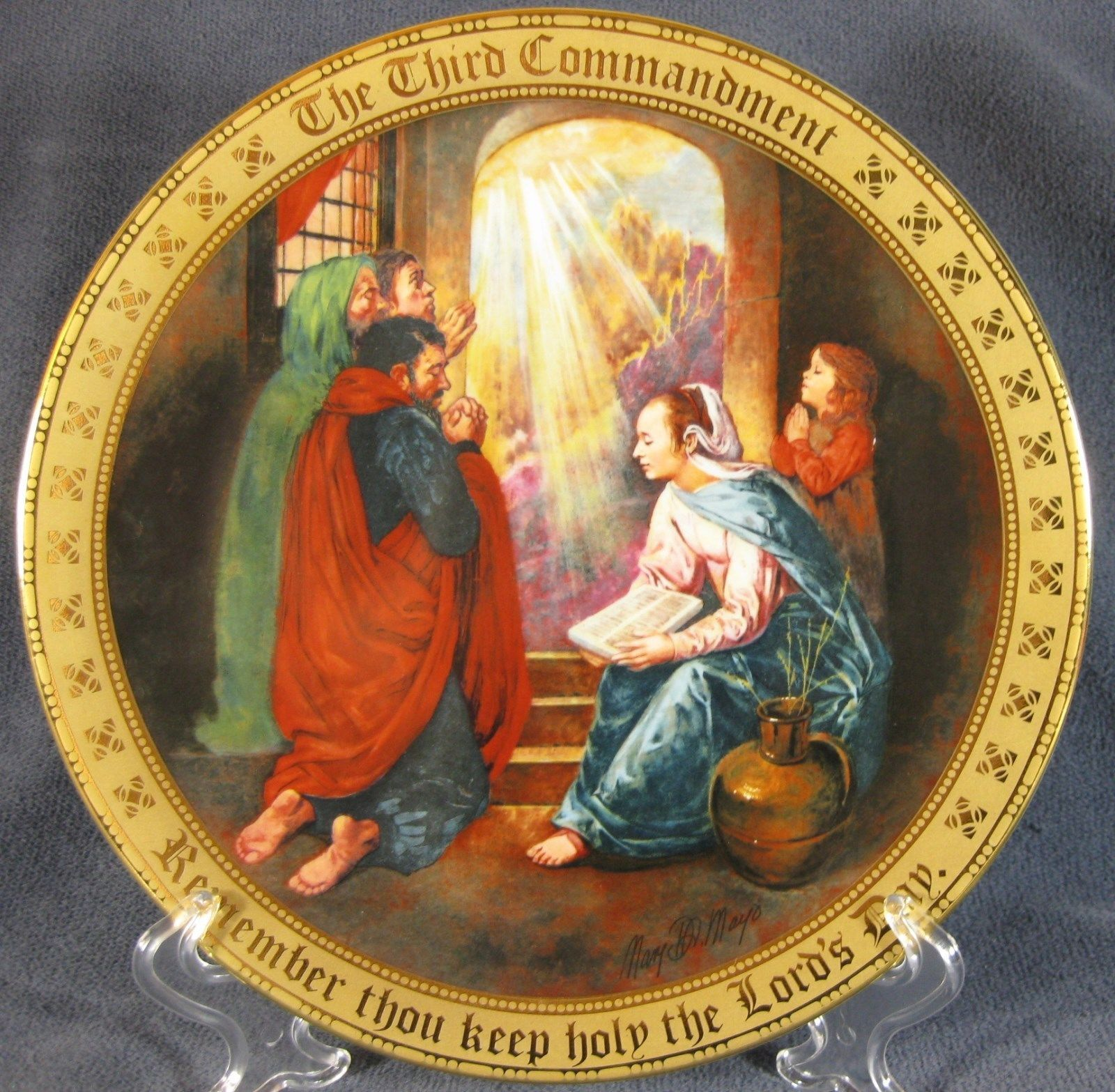 Primary image for Keep Holy The Lords Day Collector Plate Ten Commandments Mary Mayo Danbury Mint