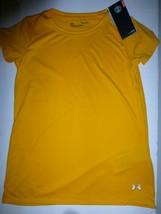 Under Armour Girls Large Gold Heatgear Loose Fit Tech Short Sleeve T Shi... - $9.89