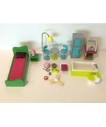 KidKraft Barbie Wooden Dollhouse Furniture Wood Kitchen Bed Toilet with Sound - $39.99