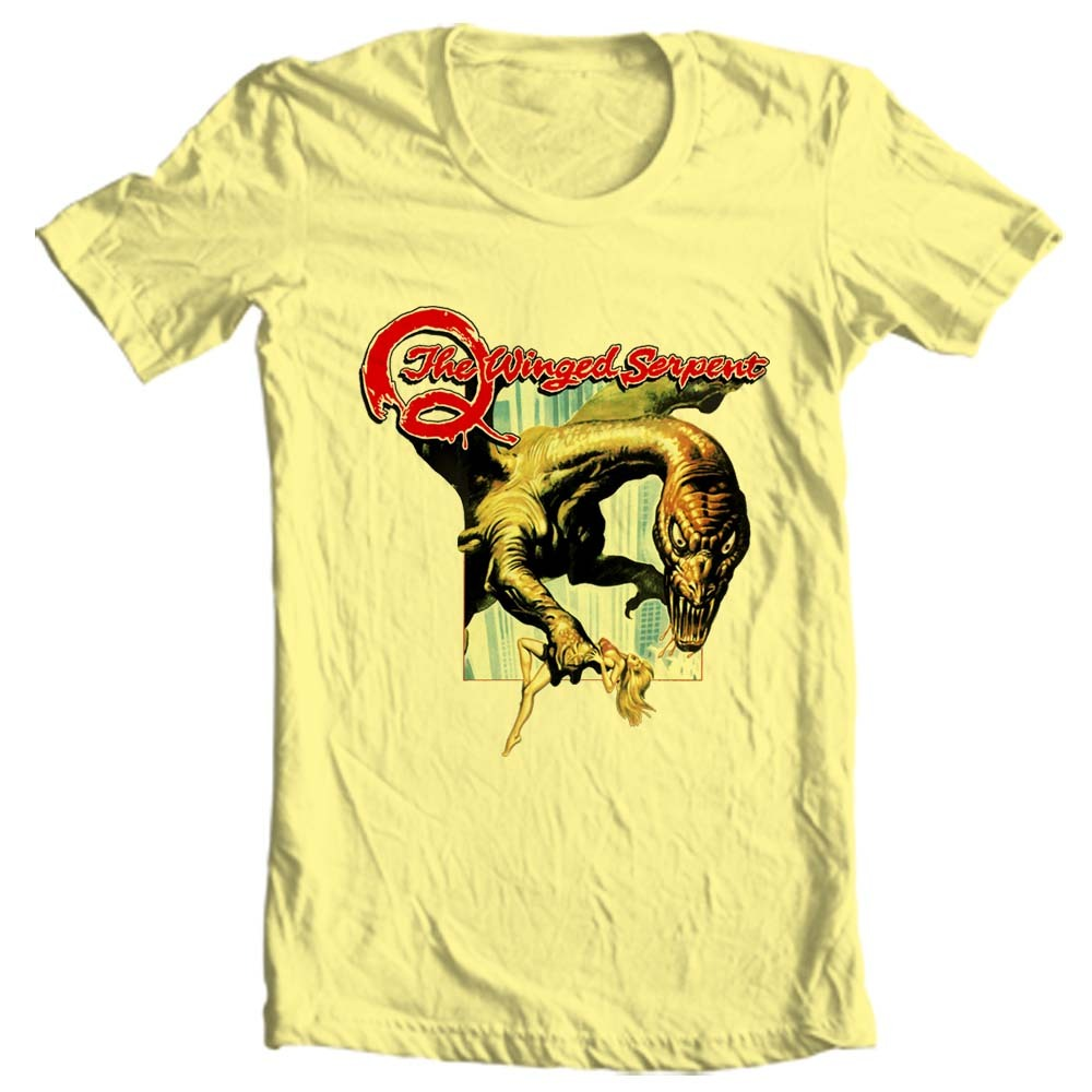 Q the winged serpent t shirt retro sci fi horror movie for T shirt graphics for sale