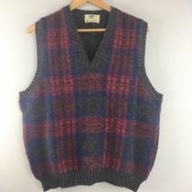 Vtg Lord Jeff Sweater Vest L Large Shetland Wool Scotland/Ireland Gray P... - $15.79
