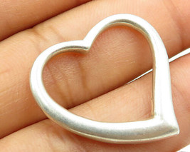925 Sterling Silver - Vintage Love Heart Pendant - P3013 - $22.10