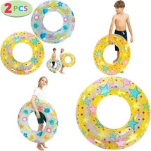 """Joyin 32"""" Inflatable Swim Tubes (2 Pcs) Color Tubes With With Sparkling ... - $26.36"""