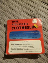 Vintage 10 Ft. Adjustable Clothesline Woolworth No.354 Sealed nylon line - $19.99