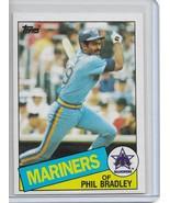 1985 Topps Baseball Phil Bradley Rookie RC # 449 Seattle Mariners - $1.00
