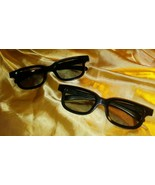 (2) Pairs Of Adult real 3d glasses (Worn Only One time) - $5.45
