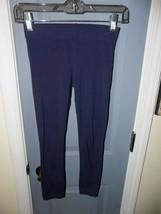 Tucker + Tate Navy Blue Solid Leggings Size (M) 8/10 Girl's EUC HTF - $18.96