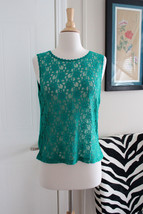 Victoria Secret Vintage Gold Label Sexy Green Lace Top Sleepwear Lingerie Large - $9.49