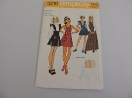 Simplicity Uncut Sewing Pattern 5210 Vintage 1970s Young Junior Teen Gir... - $11.52