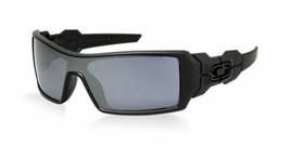 New Oakley Oil Rig OO9081 03-464 Matte Black Black Iridium Sunglasses Fa... - $84.14