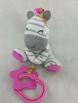 "Carters Child of Mine Zebra Rattle Plush Teether 5"" Stuffed Animal Toy - $11.66"