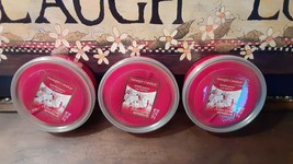 3 Yankee Candle Candy Cane Meringue Easy Melt Cup Meltcups Wax For Scenterpiece - $20.79
