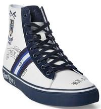 Polo Ralph Lauren Mens Solomon II Crested High-Top Sneaker NewPort Navy ... - $69.95