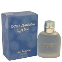 Dolce & Gabbana Light Blue Eau Intense 3.3 Oz Eau De Parfum Cologne Spray - $68.72