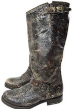FRYE Veronica Slouch Glazed Vintage Distressed Leather Boots Riding Boot... - $134.00