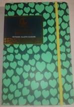 Dabney Lee Hardbound Journal - Green Hearts - 120 Page - Elastic Closure - $5.00