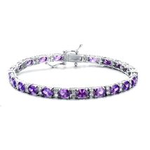 Sterling Silver Royal Purple Cubic Zirconia Tennis Bracelet - $159.99