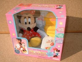 TOMY  Disney  Going out with Minnie Mouse Plush doll Toy New Japan A62 - $340.00
