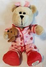 "Starbucks Bearista Pink Pajamas Teddy Bear Girl Complete PJ Outfit 2007 10"" - $8.89"