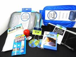 Travel Packing Set 11 pcs Inflatable Pillow Pkg Cubes x 4 Bath Caddy Tag... - $633,98 MXN