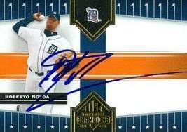 Roberto Novoa autographed Baseball Card (Detroit Tigers) 2005 Donruss Champions  - $14.00