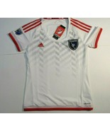 Women's MLS Adidas San Jose Earthquakes Short Sleeve Soccer Jersey Small... - $33.94