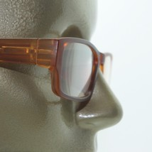 Reading Glasses Low Rise Rectangle Spring Hinge Frame Frosted Matte Amber +2.25 - $18.00