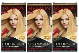 (3) Revlon Colorsilk Buttercream Permanent Hair color 93 Light Golden Blonde - $29.69