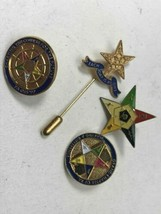 Lot Four Vintage Masonic Order of the Eastern Star Pin Pennsylvania Gold Tone image 2