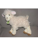 "AURORA BABIES STUFFED PLUSH SHEEP LAMB CREAM IVORY BEIGE TAN BROWN 10"" EUC - $19.79"