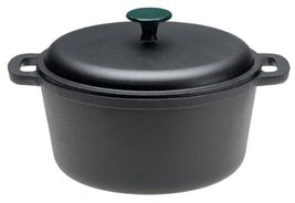 EMERIL BY ALL-CLAD DUTCH OVEN CAST IRON 6 QUART WITH LID BLACK SOLID NEW... - $269.90