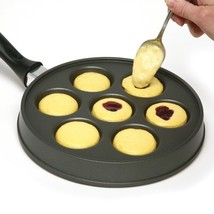 Abelskiver Pan, Danish Aebleskiver Pan, Cast Aluminum, Stuffed Pancake P... - $702,94 MXN