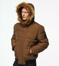Andrew Marc New York Bart Men Black Brown Down Puffer Hood Bomber Jacket... - $95.99