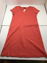 NEW Talbots Size S Women's Dress 100% Cotton Peach Short Sleeve Career N... - $37.95