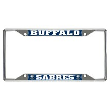 Fanmats NHL Buffalo Sabres Chrome Metal License Plate Frame Delivery 2-4 Days - $14.60